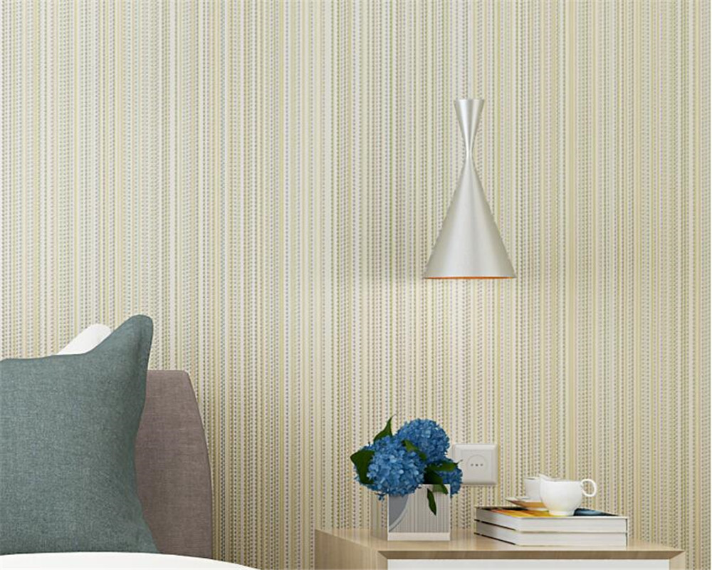 Beibehang Wallpaper modern solid color vertical stripes