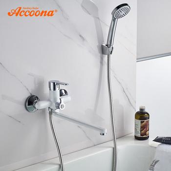 Accoona wanna do łazienki kran prysznic kran zestaw mikser montowany na ścianie wodospad bateria do wanny z prysznicem Handheld szef A7167 tanie i dobre opinie Współczesna A7167 A7167G A7167M A7167S Pojedynczy uchwyt Polerowane Zimnej i Ciepłej Pojedynczy uchwyt podwójna kontrola