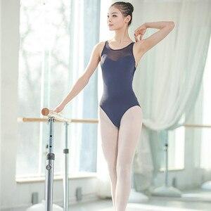 Image 3 - Leotardos de Ballet de tirantes de malla para mujer, uniformes de Ballet para adultos, Mono para gimnasia con tirantes cruzados en la espalda, para verano, 2019