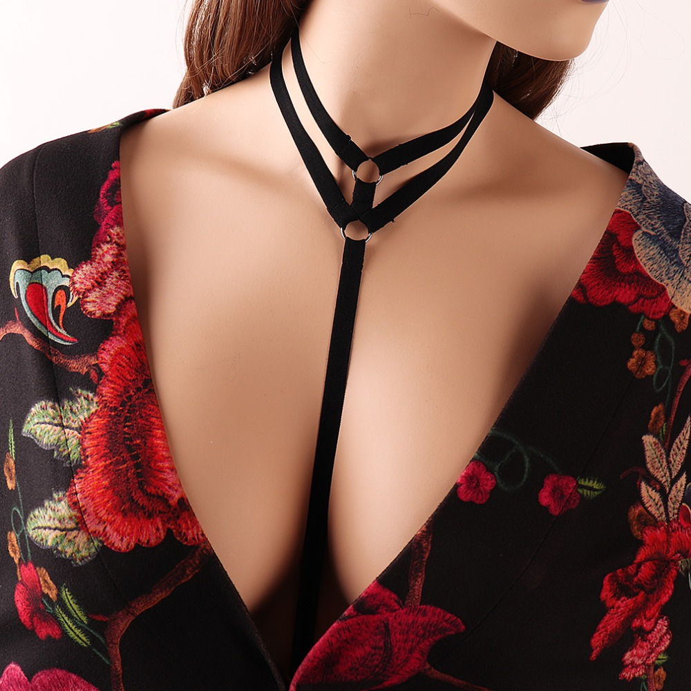 Black Body Harness Belt Women Fetish Wear Bondage Harness Bra Crop Top Bodysuit Erotic Gothic Strappy Harness Lingerie DS018