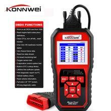 KONNWEI KW850 skaner OBD2 EODB może Auto skaner jedno kliknięcie aktualizacja diagnostyka samochodu lepiej niż skaner ELM327 Tester baterii