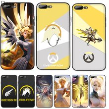 Handy Fall Silikon TPU für iPhone 7 8 6 6s Plus iPhone 11 Pro X XS Max XR 5 5s SE Abdeckung Overwatch OW Charakter Barmherzigkeit Shell(China)