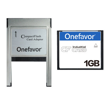 Onefavor 1GB Compact Flash Card Industrial CF Memory card With PCMCIA adapter Type II & Type I