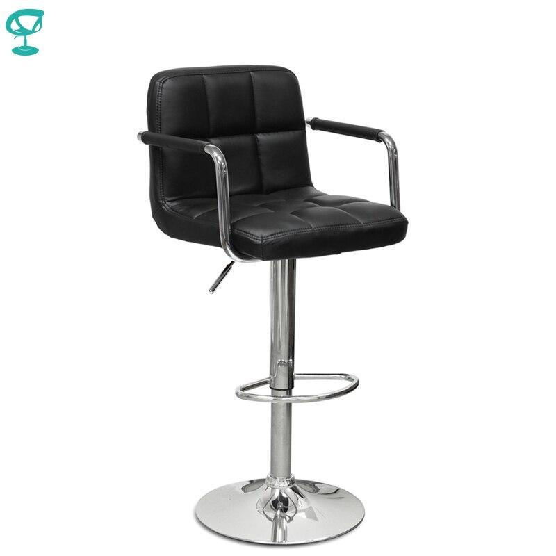 94375 Barneo N-69 Cozinha Café Bar Giro Cadeira Do Tamborete de Barra de Couro cor preta frete grátis na Rússia