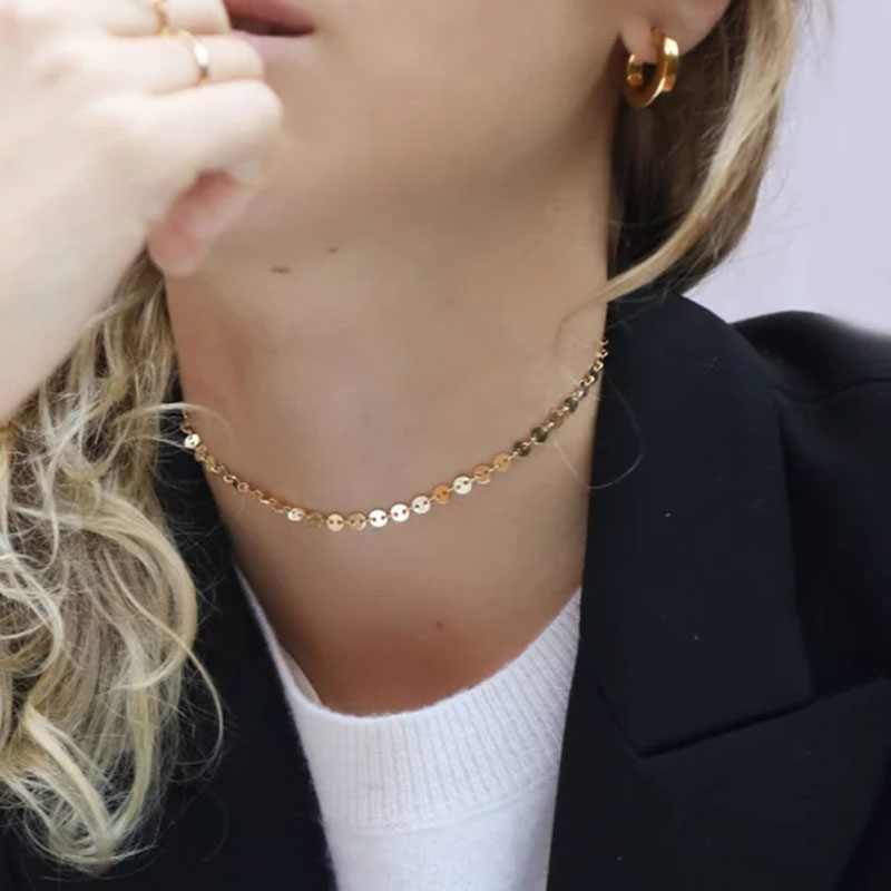 Gold Chocker Handmade Coins Disks Necklace Custom Pendants Bijoux Collier Femme Kolye Collares Collane Jewelry Riverdale