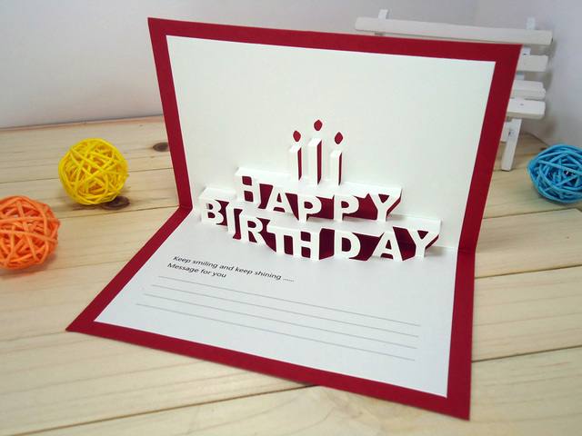 145x95cm happy birthday creative kirigami origami 3d birthday 145x95cm happy birthday creative kirigami origami 3d birthday greeting gift card with envelope m4hsunfo