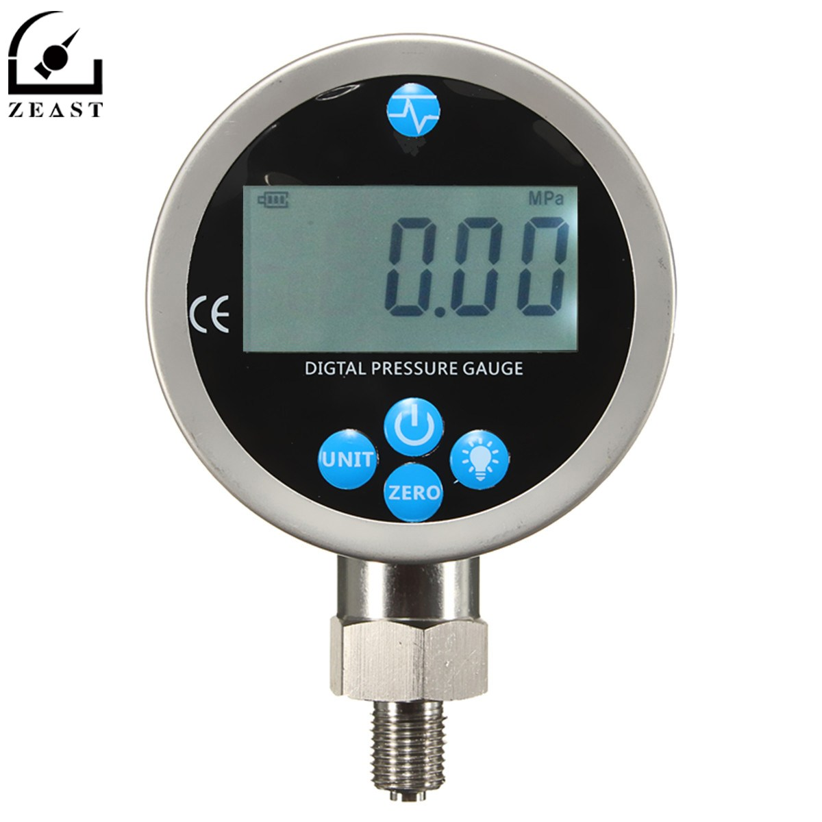 Digital Hydraulic Pressure Gauge 400BAR/40Mpa/10000PSI with BSP1/4 Connector Backlight Pressure Tester Meter homeleader 7 in 1 multi use pressure cooker stainless instant pressure led pot digital electric multicooker slow rice soup fogao