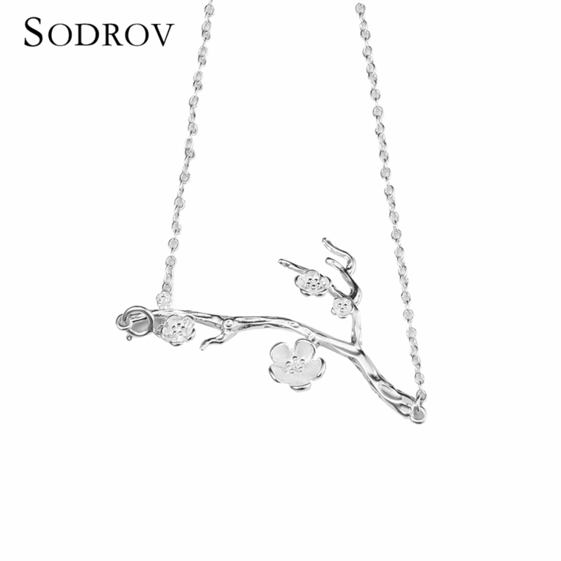 Real Sterling Silver Necklace Tree and Flower Women 39 s Wedding Pendant Necklace Jewelry joyas de plata 925 Gift N005 in Necklaces from Jewelry amp Accessories