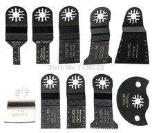 10 pcs kit oscillating multi tool saw blades for renovator electric tools accessories as Fein multimaster ,with export quality