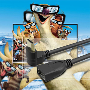 Image 3 - 15Cm Hoge Snelheid Mini Hdmi Naar Hdmi Kabel Vergulde 90 Graden Hoek Man vrouw Hdmi Extension Converter voor Tablet Hdtv Cabo