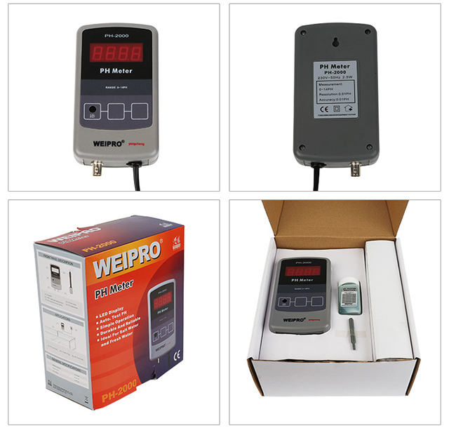 WEIPRO PH 2000 Meer aquarium PH-2000 ph-wert langfristige monitor säure test instrument tester