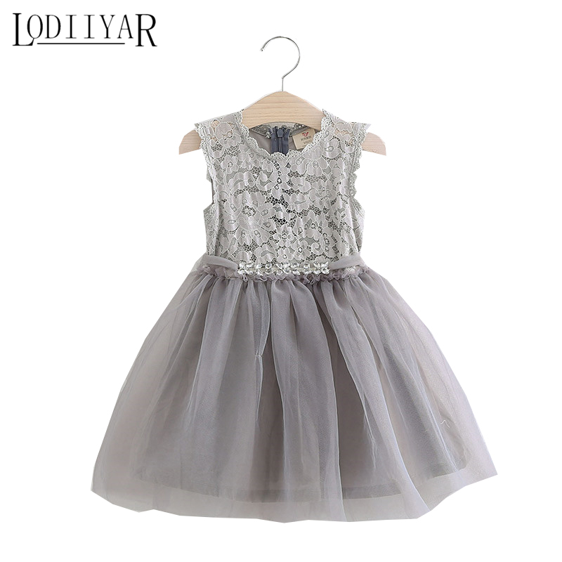 цены  Girls Ball Gown Lace Flowers Girl White Dress For Prom Princess Dresses For Wedding Birthday Party Kids Clothes Floral Evening