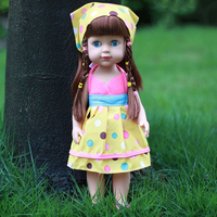 35CM Baby Doll Reborn Doll Toy For Kids Appease Accompany Cute Vinyl Doll Plush Toy Girl