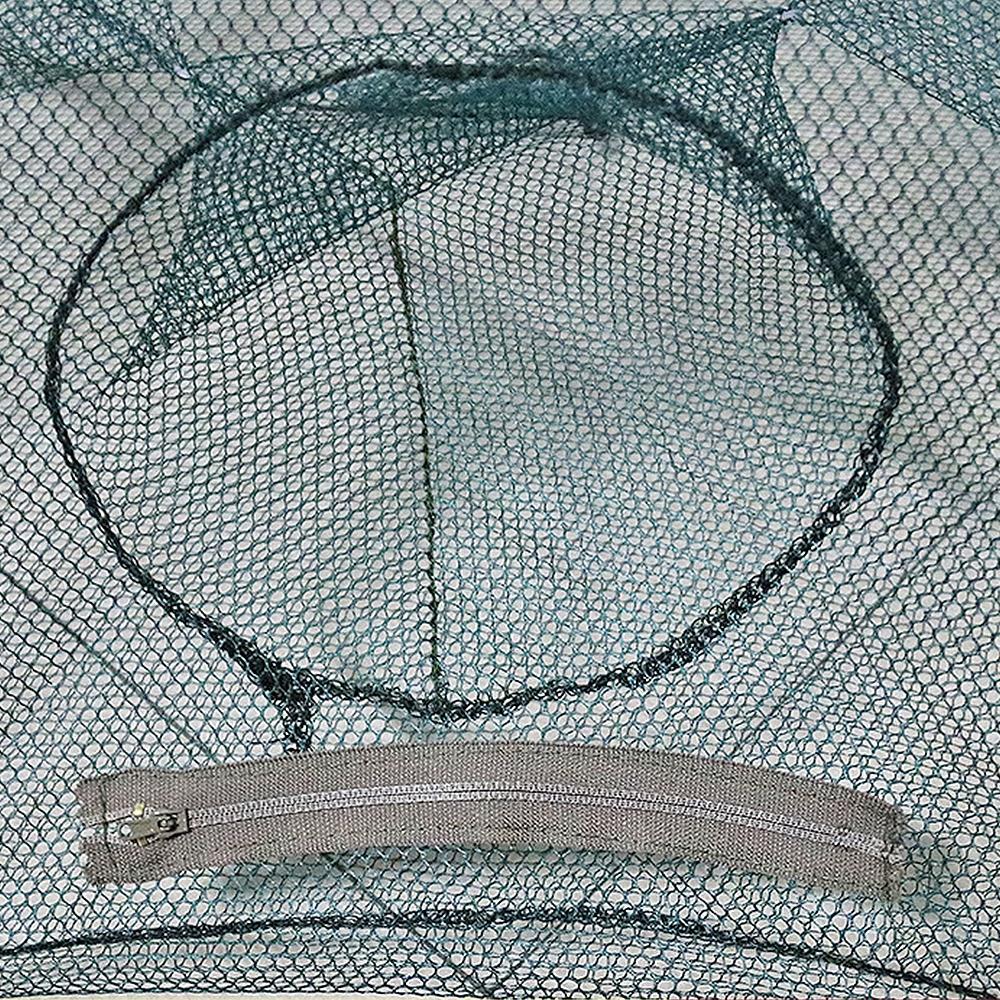 Клетка для рыбы сеть 12 отверстий в сложенном виде портативная Шестигранная Автоматическая Рыболовная Ловушка для креветок рыболовная сеть креветка для ловки гольяна, краба