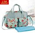 5 Colors Hot Sale Fashion Baby Diaper Bag Waterproof Nappy Bag Changing Bag Mummy Handbag Baby Stroller Bag NEW