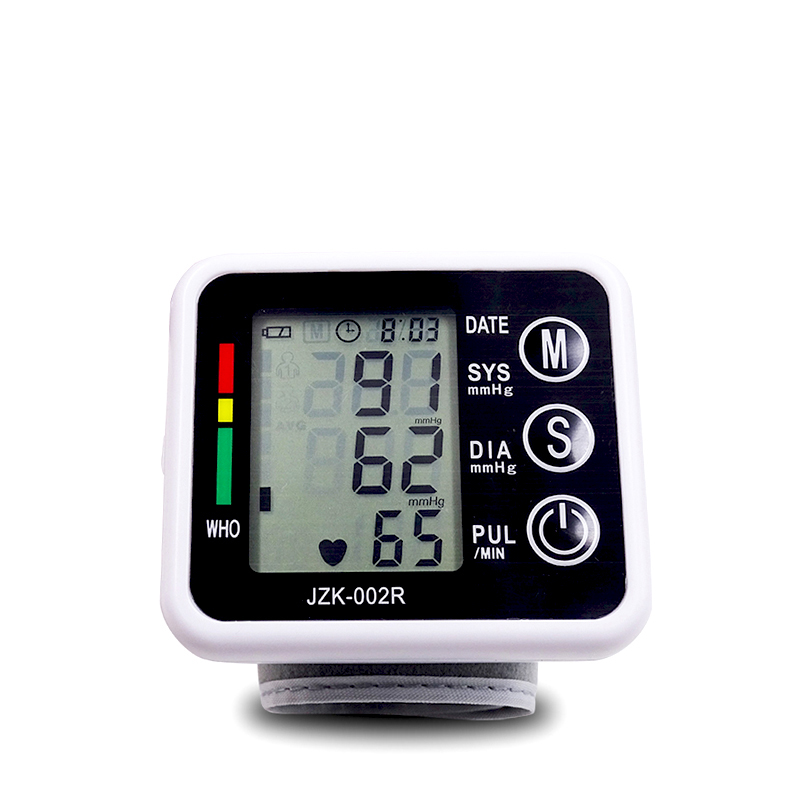 Beurha Blood Pressure Monitor Household Wrist Type Microcomputer Intelligent Type Electronic Black Non-Voice Use Of Battery upper arm type intelligent voice electronic sphygmomanometerthree color backlight blood pressure instrument household