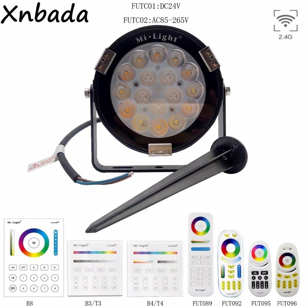 Led Lawn Lamps Led Lamps Mi.light 9w Rgb+cct Led Garden Light Ip65 Waterproof Outdoor Lighting Dc24v/ac85-265v