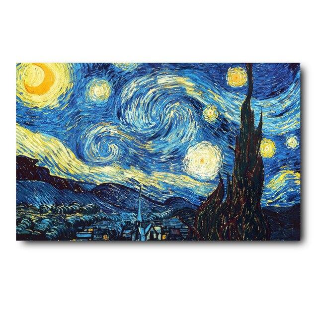 Wohnzimmer Wandschrank Malerei | 40 60 Cm Eingang Fussmatte Gummibodenmatte Van Gogh Abstrakte Malerei