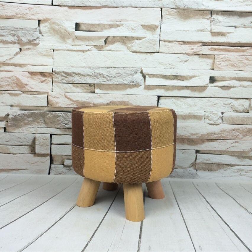 Мода низкая ткань диван круглая табуретка менять обувь стул твердой древесины съемный ткань тахты детские комплекты бытовой мебелью 28*28см