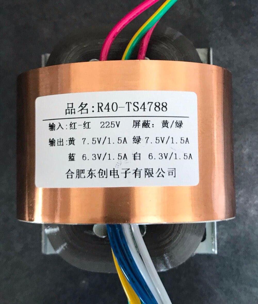 2*7.5V 1.5A 2*6.3V 1.5A R Core Transformer 50VA R40 custom transformer 225V copper shield output for Power supply amplifier 16v 0 16v 1a 2 9v 1a r core transformer 50va r40 custom transformer 110v 110v copper shield output for power supply amplifier