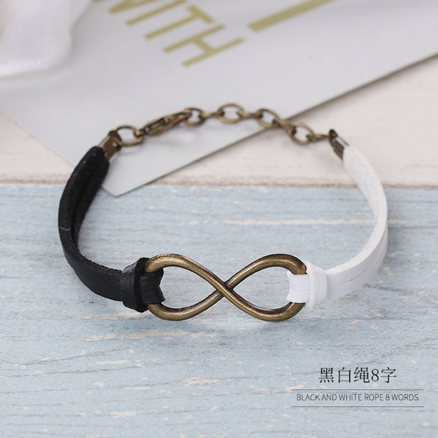 Fashion Infinity Braid Female Women Bracelets Lucky Rope Bracelet Hand Woven 6 Color Korean
