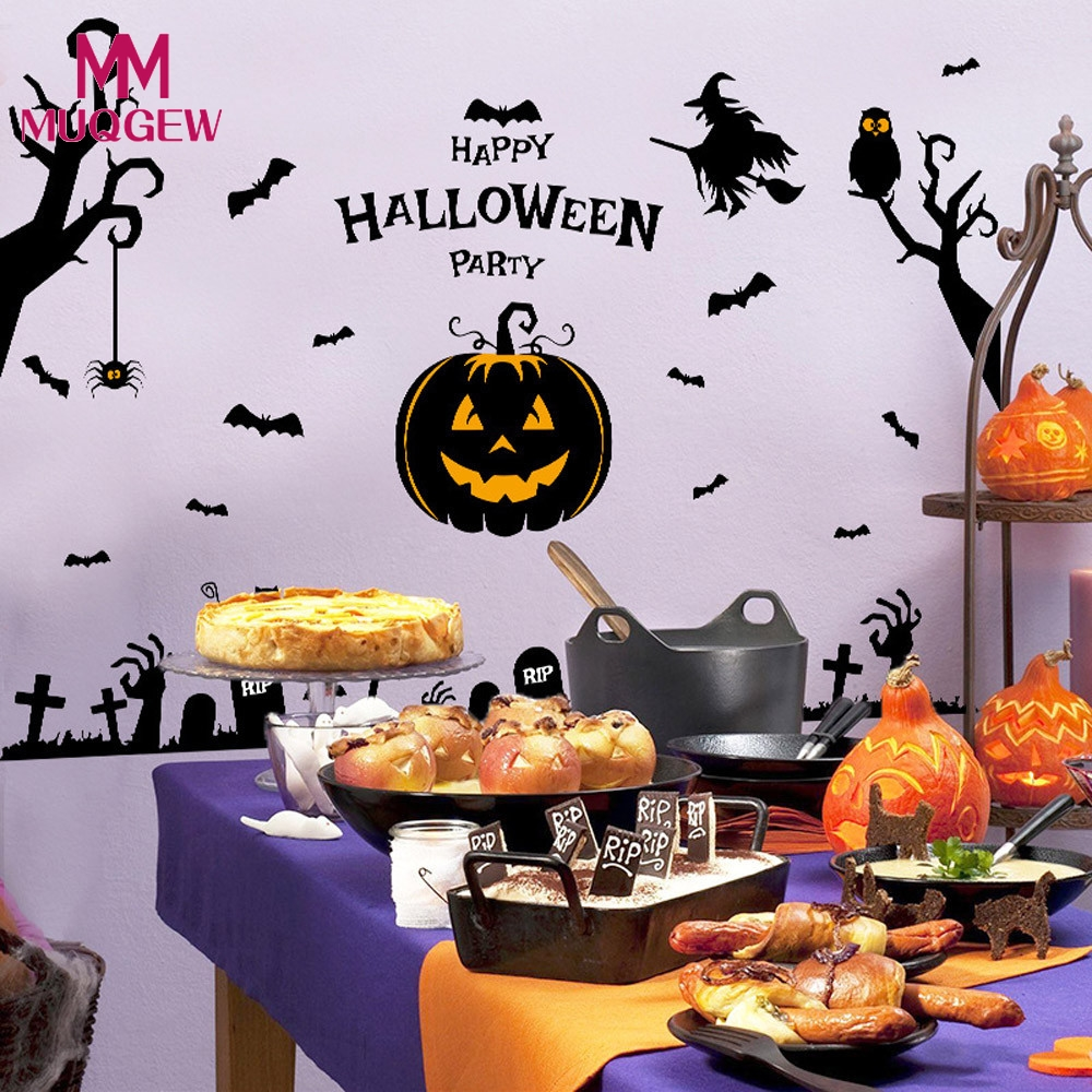 new fashion festival decor halloween witch pumpkin wall party home decor halloween decoration party supplies diy