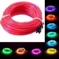 15 M 2.3 MM EL fil conduit Flexible Tube souple fil néon lueur voiture corde bande lumière noël décor