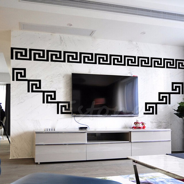 Mode Maze Motif Moderne Miroir Mur Maison Bricolage Decalque Decor ...