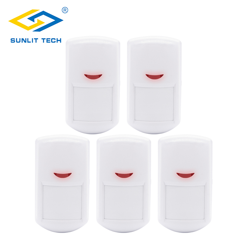 5pcs/Lot 433MHz Wireless Smart Home Motion Detector Sensor PIR Motion Detector For GSM/PSTN Home Security Burglar Alarm System new 433mhz wireless water leak intrusion detector work with gsm pstn sms home security voice burglar smart alarm system