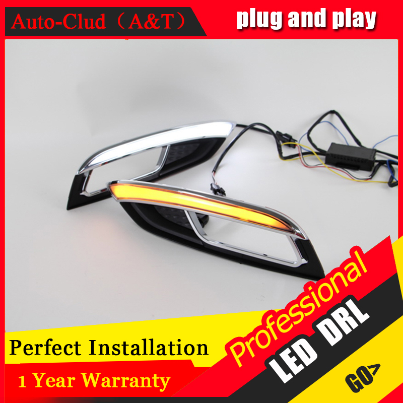 Auto Clud car styling For Kia K3 LED DRL For K3 led fog lamps daytime running light High brightness guide LED DRL auto clud car styling for toyota highlander led drl for highlander high brightness guide led drl led fog lamps daytime running l