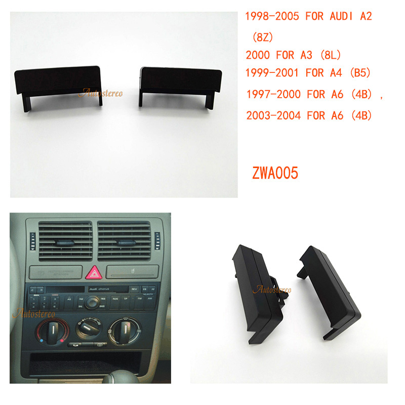 A3 8L TT 8N A4 B5 Marco para radio Audi A2 8Z negro