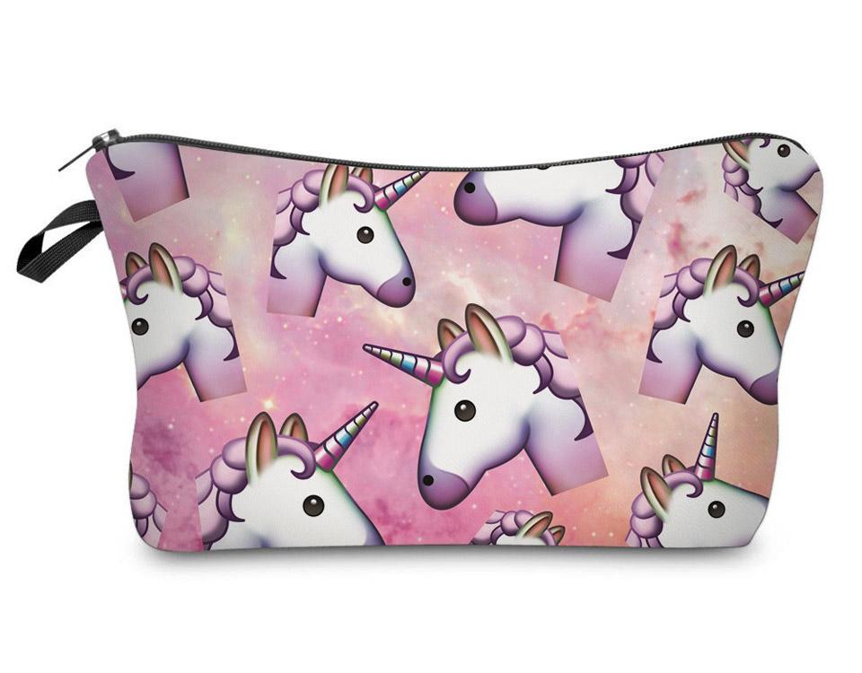 Pink Unicorn Travel Makeup Bag