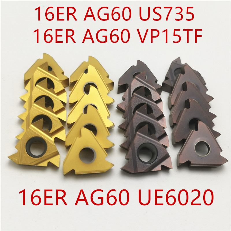 MMT 16ER IR AG55 AG60 VP15TF UE6020 US735 Carbide Inserts Thread Turning Tool Cutting Tool Lathe Tools Milling Cutter CNC Tool