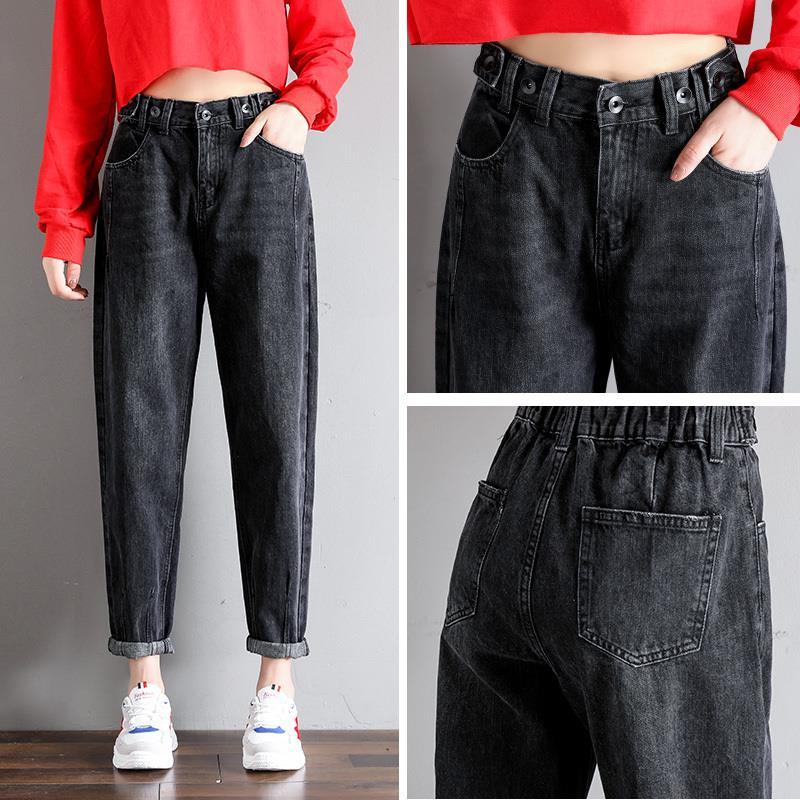 GCAROL New Women 93% Cotton Blends Pencil Denim Pants High Waisted High Street Boyfriend Style Jeans In 3 Colors Plus Size 26-32 14