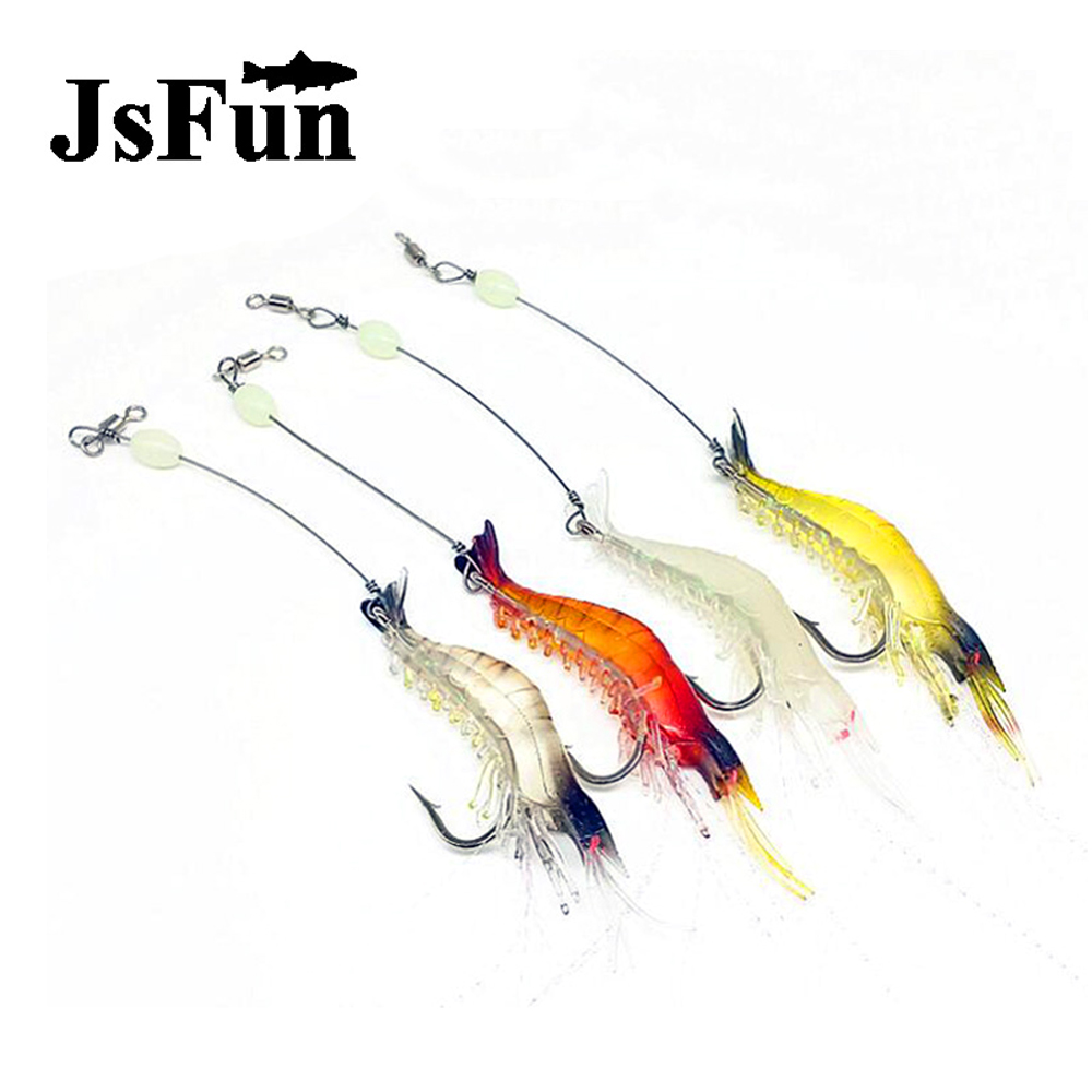 JSFUN 50pcs/lot Soft Fishing Lure Shrimp 9cm/6g Artificial Bait With Swivel Luminous Bead Fishing Lures Baits FU350 fovonon 4pcs lot soft baits fishing lures 12cm8 3g jig fsihing wobbler swivel rubber lure fishing worms soft shrimp bass