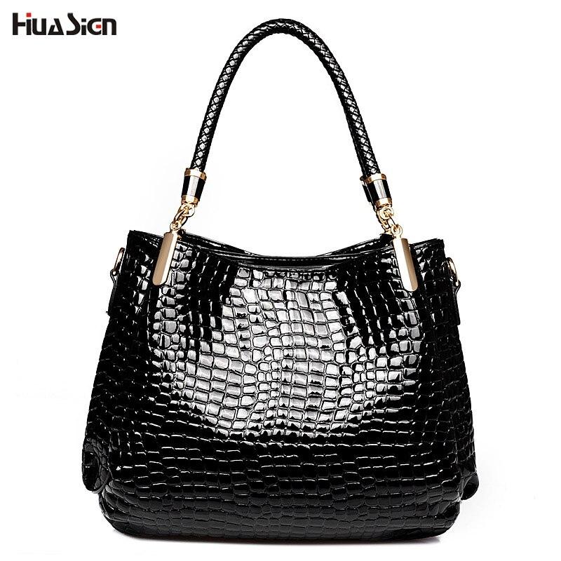 2017 Crocodile PU Leather Women Handbag Luxury Brand Shoulder Bags Bolsas Fashion Ladies Tote Hand Bag