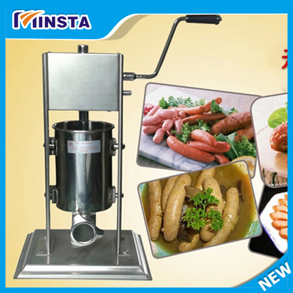 Free Shipping 5L hand sausage filler,manual sausage filler stuffer machine,sausage making machine for home use