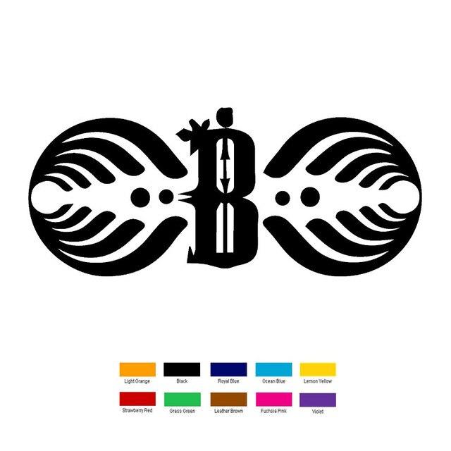 Wholesale 10 Pcslot 18cm X 6cm Bassnectar Symbol Car Sticker For