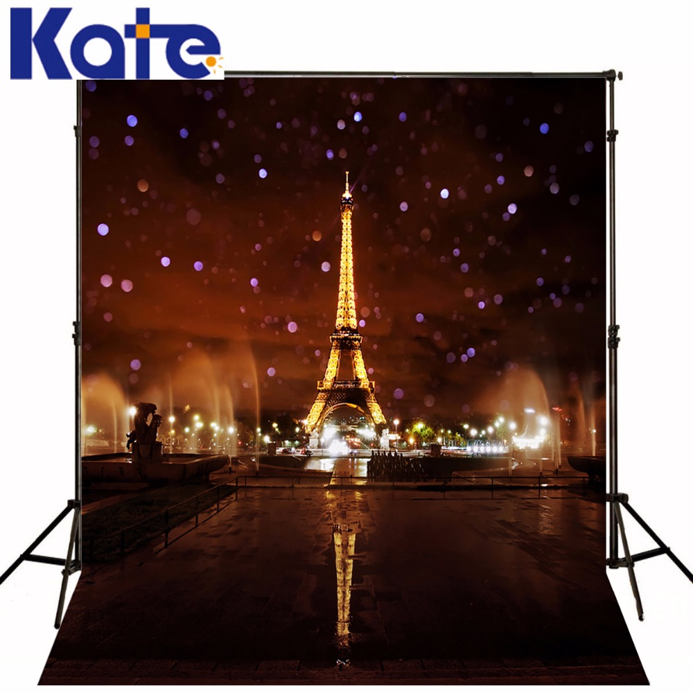 5x7FT Kate Eiffel Tower Photography Backgrounds Brown City Night Photo Background Photography Backdrop Wedding Photo Backdrops kate 5x7ft photography background spring