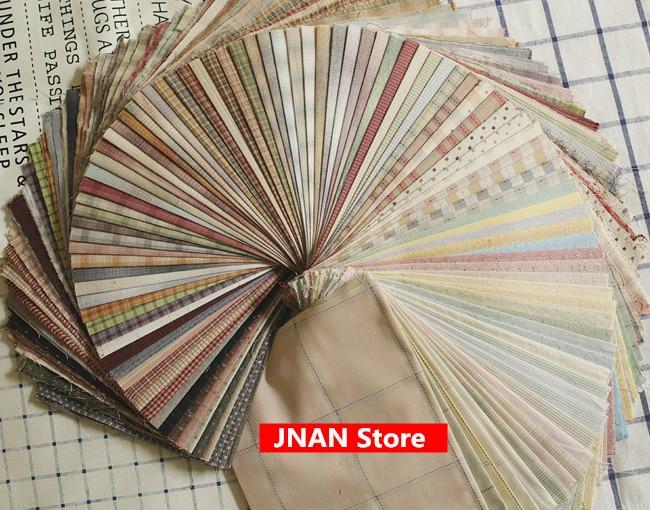 10 штук DIY японская маленькая ткань группа Пряжа-окрашенная ткань, для шитья Лоскутное шитье ручной работы, сетка полоса точка случайный подарок