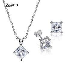 Фотография Zeyan Girls accessories jewelry set classic necklace stud earring luxury jewelry necklace set top selling charming earring sets