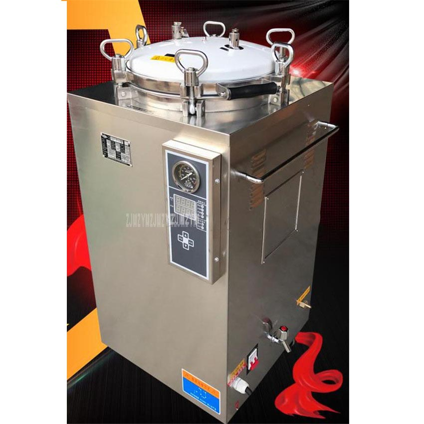 50L 3KW Stainless Steel Sterilization Pressure Steam Sterilizer Automatic Disinfecting Cabinet For Surgical Medical LS-50LD