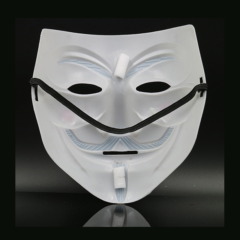 Image 5 - Hot Sale White/Gold/Silver/Yellow V for Vendetta Guy Fawkes Mask Anonymous Halloween Cosplay Costumes Party Supplies Scary prop-in Party Masks from Home & Garden