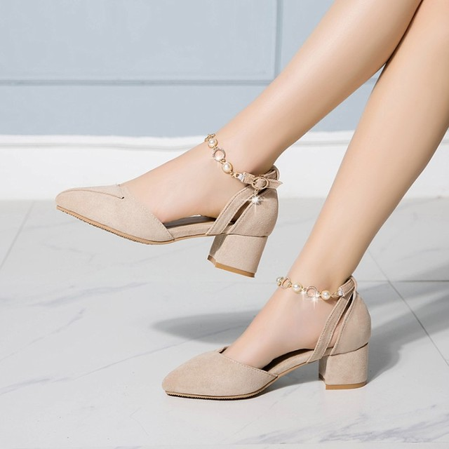 Grande taille talons hauts sandales femmes chaussures femme été dames métal sandales décoratives avec talons épais