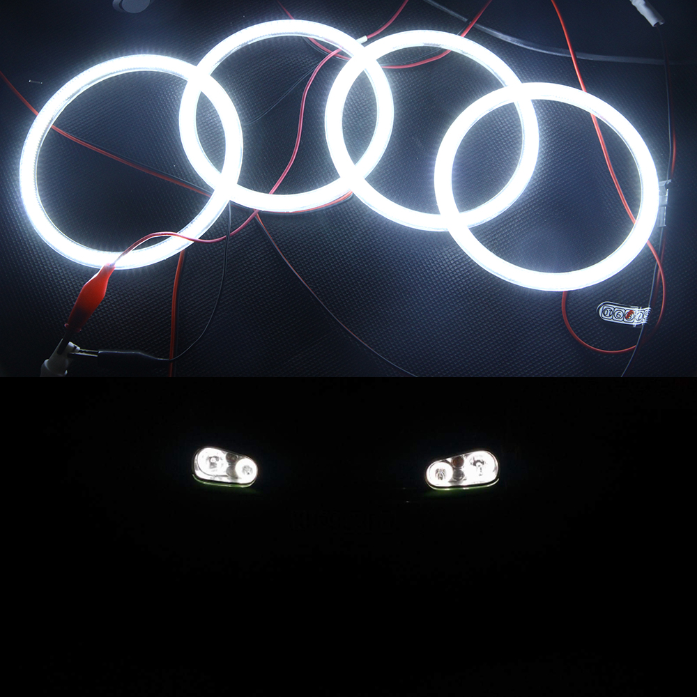 2017 New Items for VW golf 4 led angel eyes, 2 x 90mm & 2 x125mm 3014 Led chips white angel eyes halo ring kits for VW GOlf 4