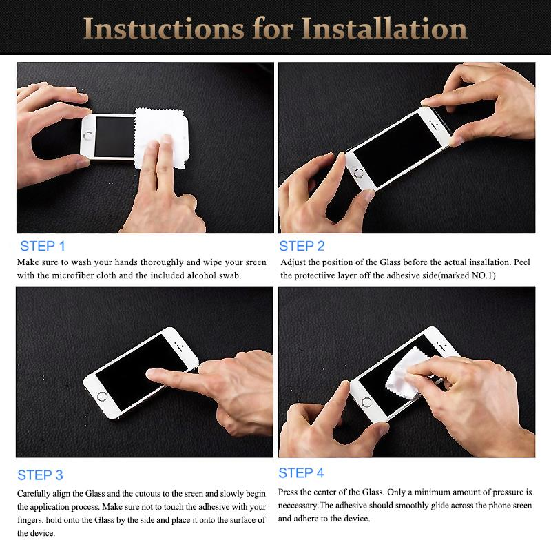 HTB1F8TeKXXXXXamaXXXq6xXFXXXe - 9H tempered glass For iphone XR XS X 8 4s 5s 5c SE 6 6s plus 7 plus screen protector protective guard film case cover+clean kits