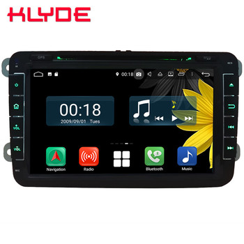 "8"" Octa Core 4G Android 8.1 4GB RAM 64GB ROM Car DVD Player Stereo GPS Glonass For Skoda Yeti Fabia Rapid Praktik Superb Octavia"