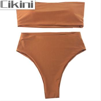 Bikini Set 2021 letnie stroje kąpielowe Biquini kobiety seksowna plaża strój kąpielowy Push up brazylijski Bikini Maillot De Bain tanie i dobre opinie CIKINI CN (pochodzenie) Drukuj Osób w wieku 18-35 lat Wysokiej talii Drut bezpłatne AT004 WOMEN Pasuje prawda na wymiar weź swój normalny rozmiar
