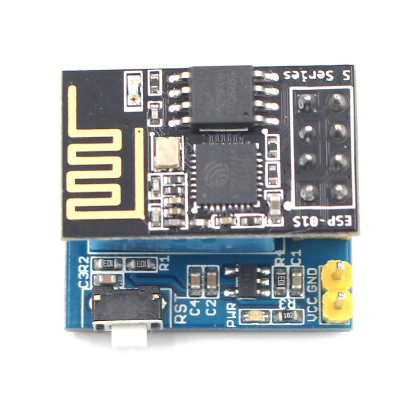 ESP8266 ESP-01S Serial Wireless Transceiver+DHT11 Temperature Humidity Monitor Shield Sensor Wifi Module Adapter Board        #8
