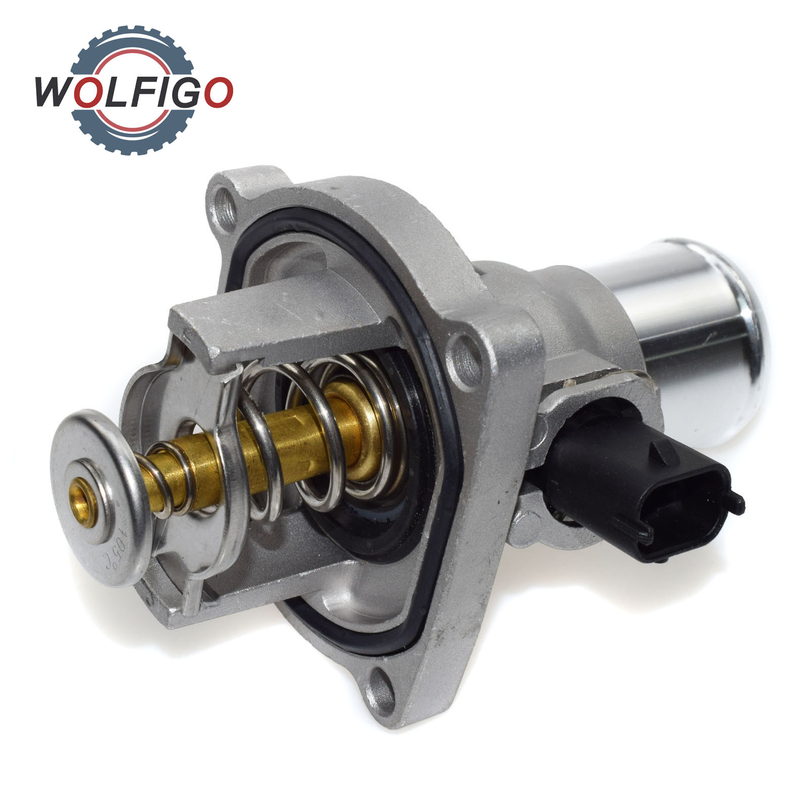 Wolfigo Engine Coolant Thermostat Housing For Chevrolet Cruze Sonic Pontiac Aveo G3 Vauxhall Opel Astra 55564891 55578419 In Thermostats Parts From